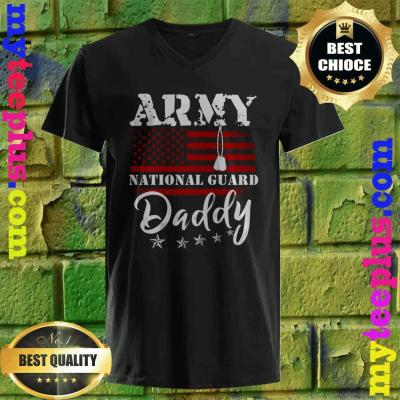 Army National Guard Daddy Of Hero Military v neck