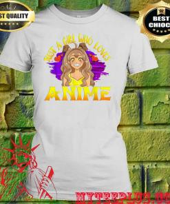 Just A Girl Who Loves Anime women's t shirt