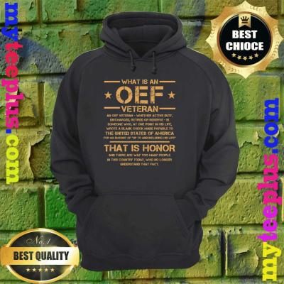 OIF Military Army Combat OEF Veteran Definition Iraq Proud hoodie