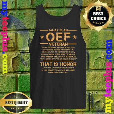 OIF Military Army Combat OEF Veteran Definition Iraq Proud tank top