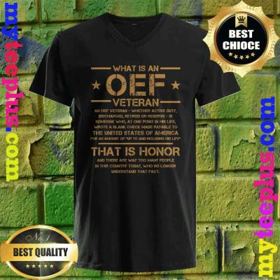 OIF Military Army Combat OEF Veteran Definition Iraq Proud v neck