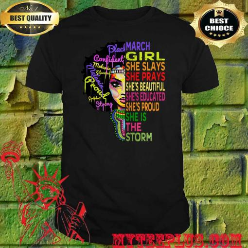 Womens march birthday girl queens are born in march t-shirt