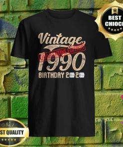 30th Quarantine Edition Birthday Vintage Theme 1990 Shirt