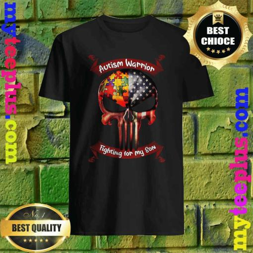 Autism Warrior Fighting For My Son Gifts For Mom Dad Parents T-Shirt
