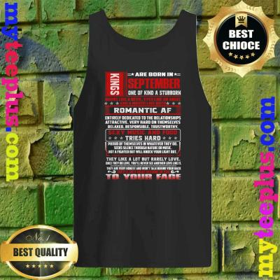 Mens King Was Born In September Virgo Birthday Tank top