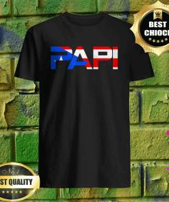 Papi Puerto Rican Flag Father Dad T-Shirt
