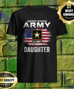 United States Army Daughter With American Flag T-Shirt