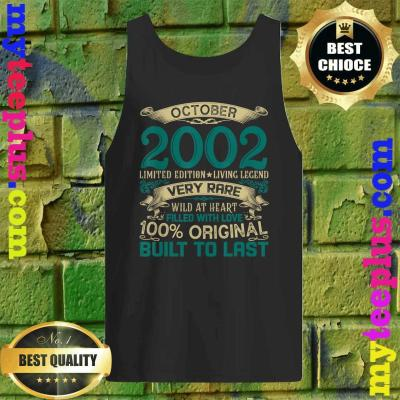 Vintage 18th Birthday October 2002 Shirt 18 Years Old tank top
