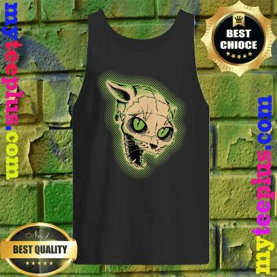 Vintage Halloween Scary Cat Skull Horror Gift Tank top