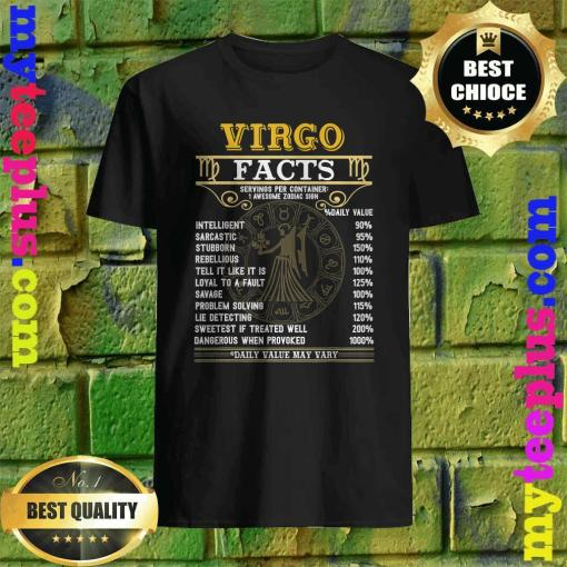 Virgo Facts Zodiac Signs Funny Birthday Gifts T-Shirt