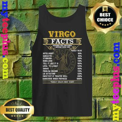 Virgo Facts Zodiac Signs Funny Birthday Gifts Tank top