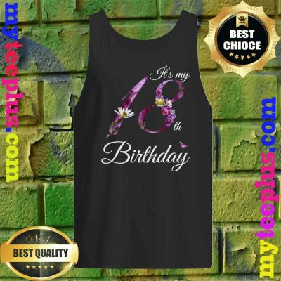 18 Year Old Shirt Floral 2002 It's My 18th Birthday Gift Tank top
