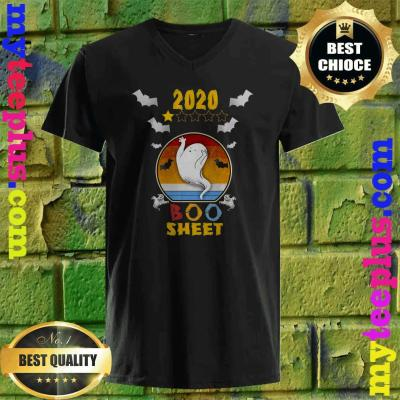 2020 Boo Sheet 1 Star Rating Funny Ghost Halloween Gift v neck