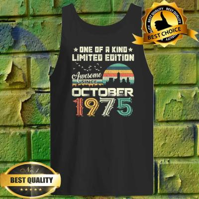 45th Present Retro Birthday October Limited Edition Tank top