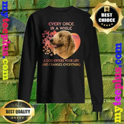 Every Once In A While A Dog Enters Your Life Goldendoodle Sweatshirt