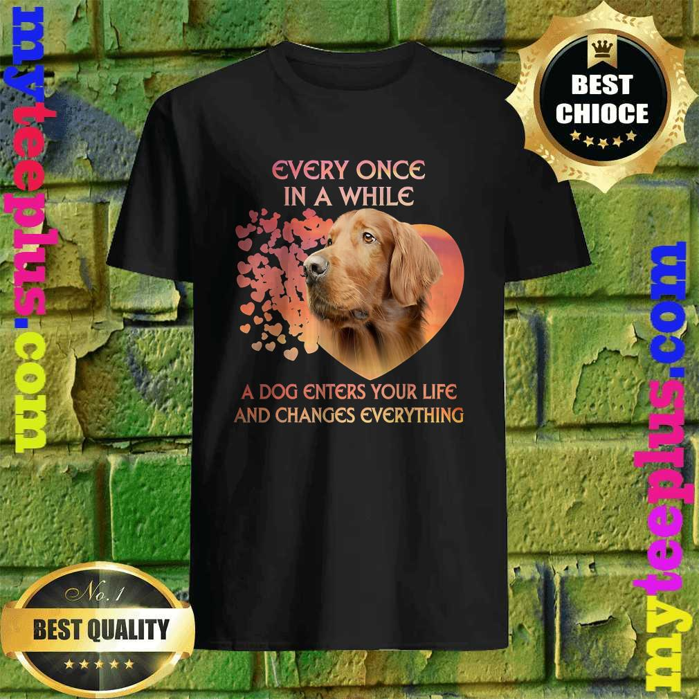 Every Once In A While A Dog Enters Your Life Irish Setter T-Shirt