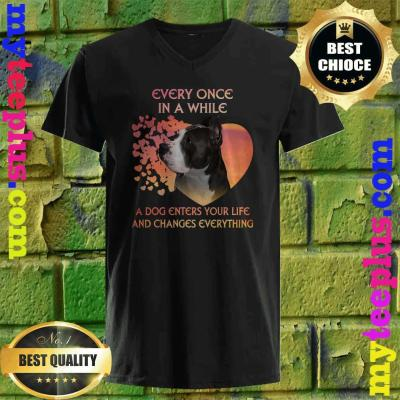 Every Once In A While American Pit Bull Terrier v neck