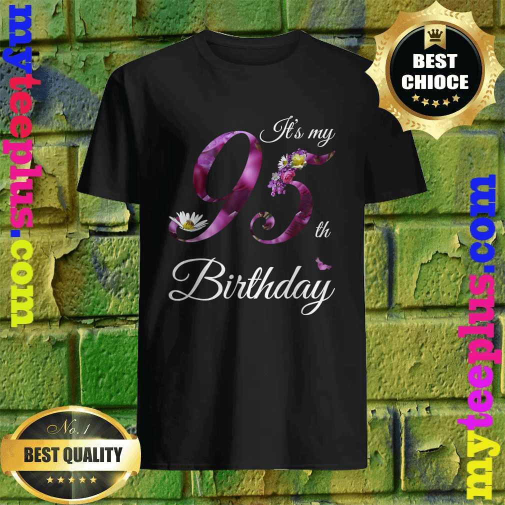Floral 1925 It's My 95th Birthday Gift T-Shirt
