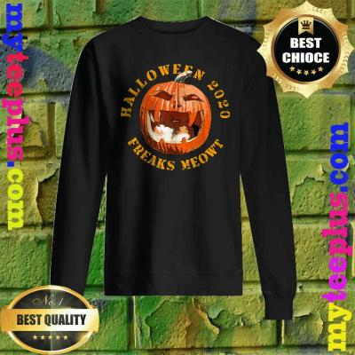 Freak Meowt Halloween 2020 Pumpkin Jackolantern Cat Sweatshirt