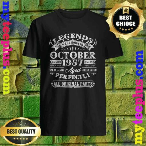 Legends Were Born In October 1957 63rd Birthday Gifts T-Shirt
