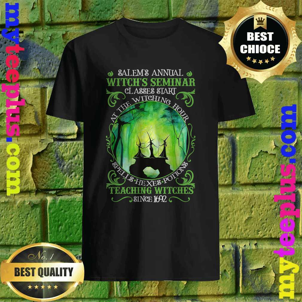Salems Annual Witchs Seminar Witchcraft Halloween Costume Shirt