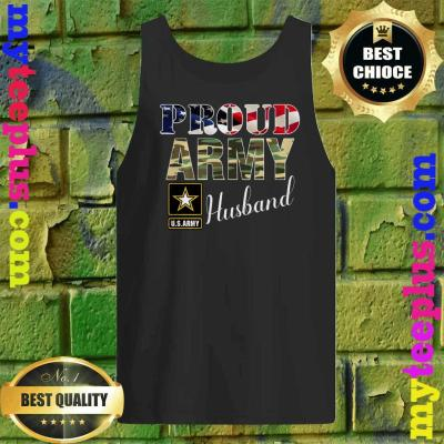 Vintage Proud Army Husband With American Flag Gift Veteran Tank top