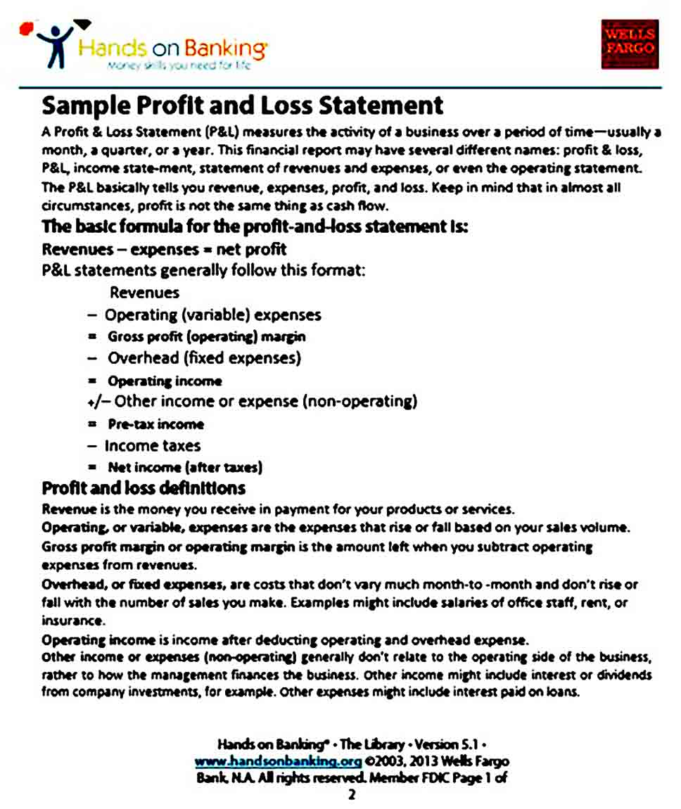 Profit Loss Statement And How To Make It Easy To Understand