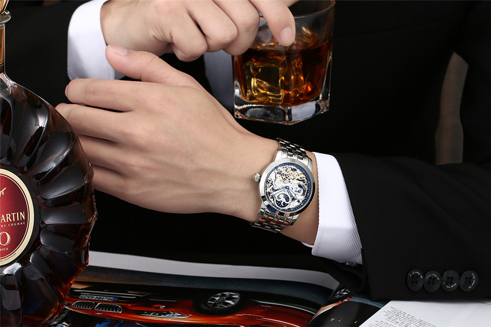 Gentleman with whiskey and a great watch