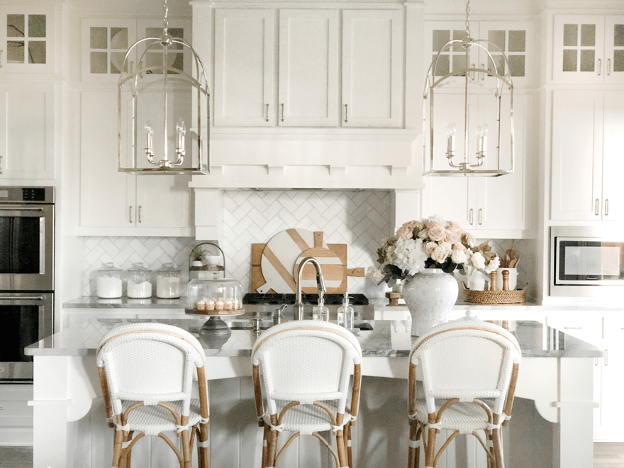 Kitchen and Living Room Updates New Pendants Bar Stools