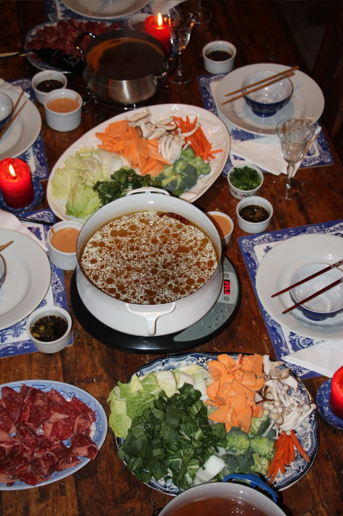 Shabu-shabu table setting