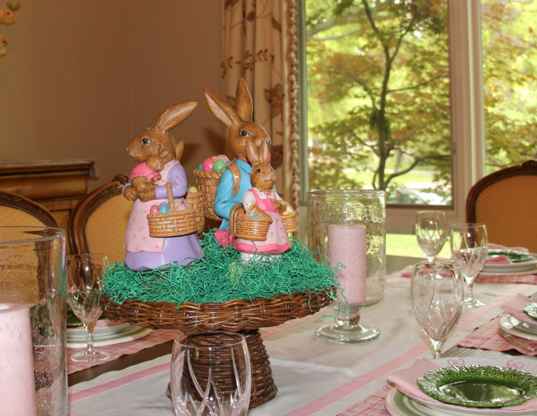 Easter, Easter table scape, bunnies