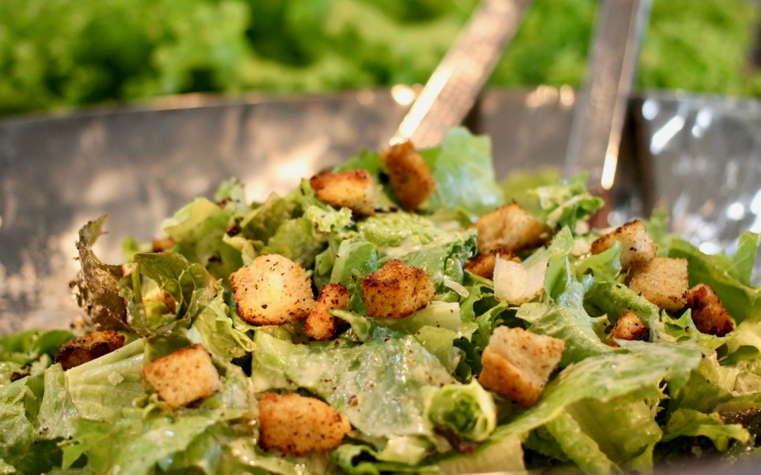 Making A Caesar Salad From My Garden