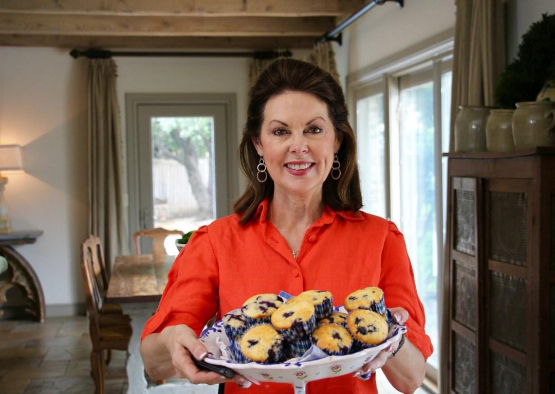Summer blueberry muffins