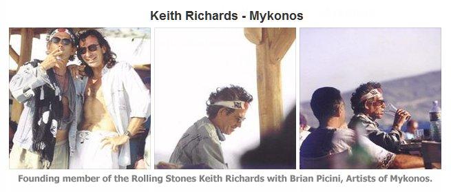 Keith Richards, Mykonos