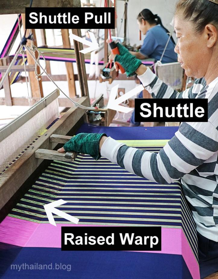 Hand weaving in Thailand