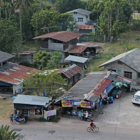 Silk country. A small village in Esaan-Northeastern Thailand