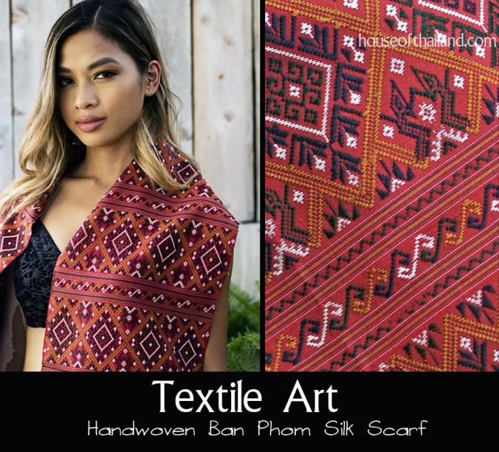 Praewa silk scarves from Ban Phon, Thailand