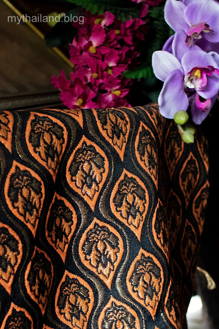 Quality brocaded Thai silk from Lamphun Province.