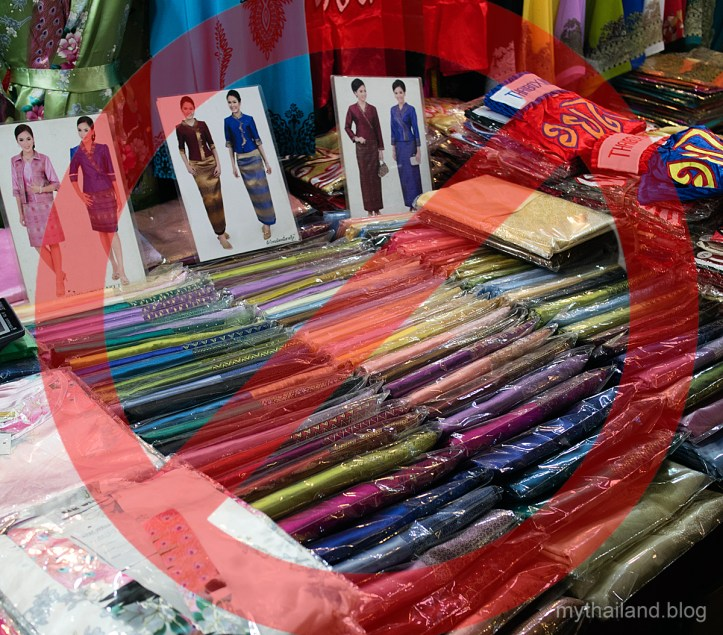 Fake Thai Silk at a Tourist Market