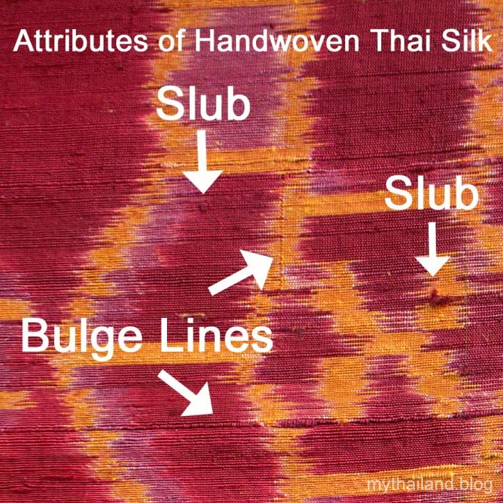 Thai silk fabric slubbing
