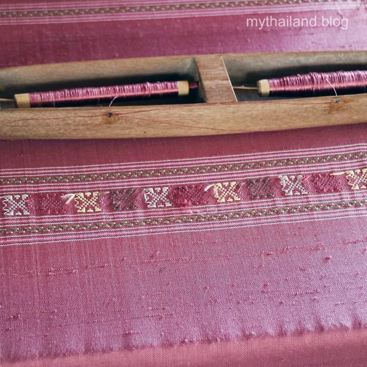 Thai silk slubs