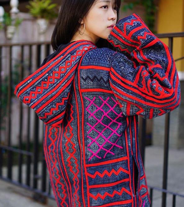 Hmong reverse applique