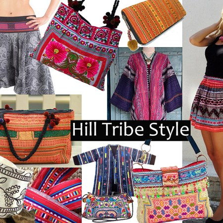 Hill Tribe Purses, shirts, pants, hadbags, bracelets