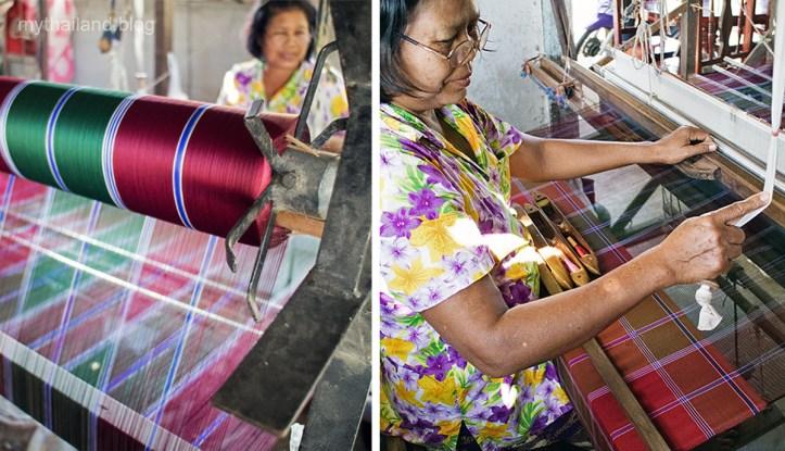 Thai silk weaving in Ban Tasawang