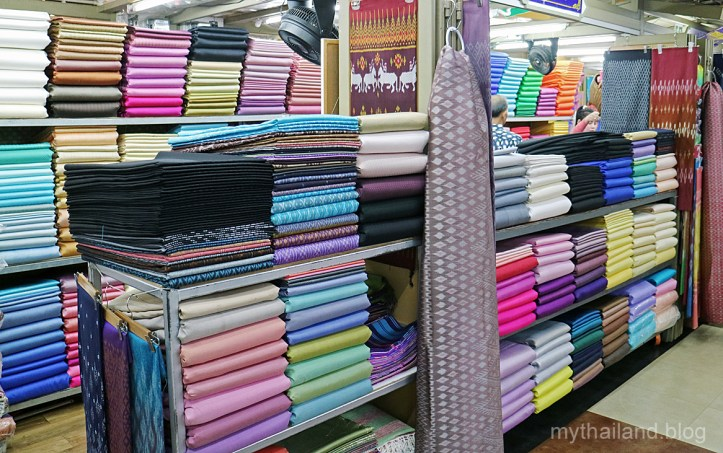 Thai silk for sale at the Silk Zone in Bangkok