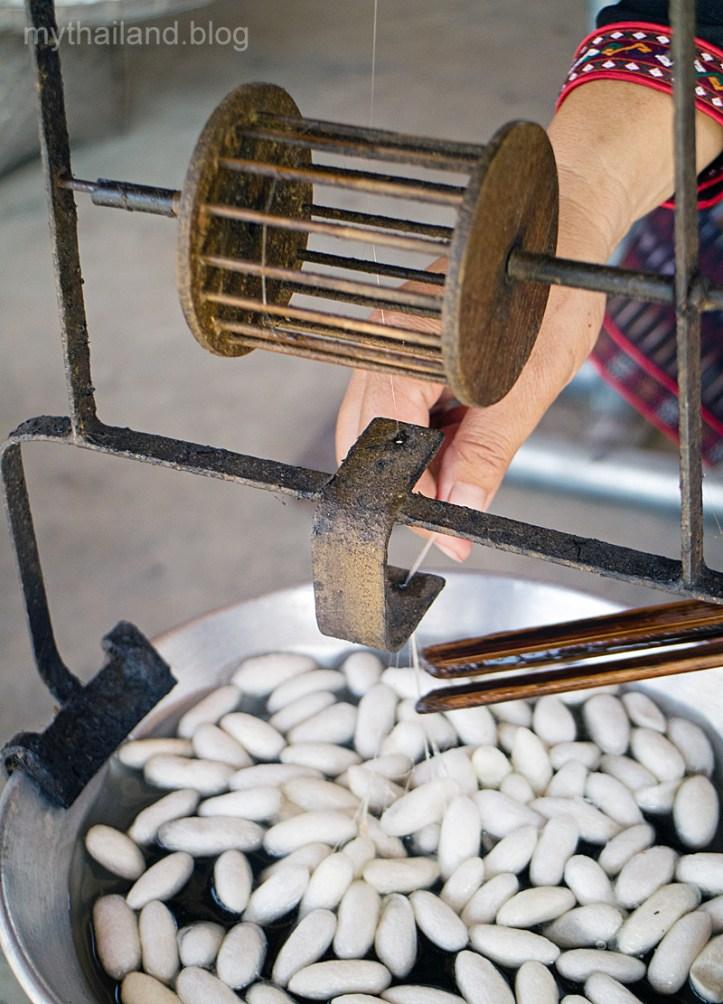 Thai silk reeling