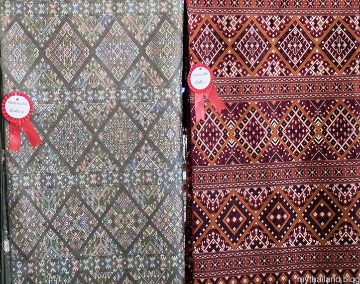 Praewa silk using natural dyes.