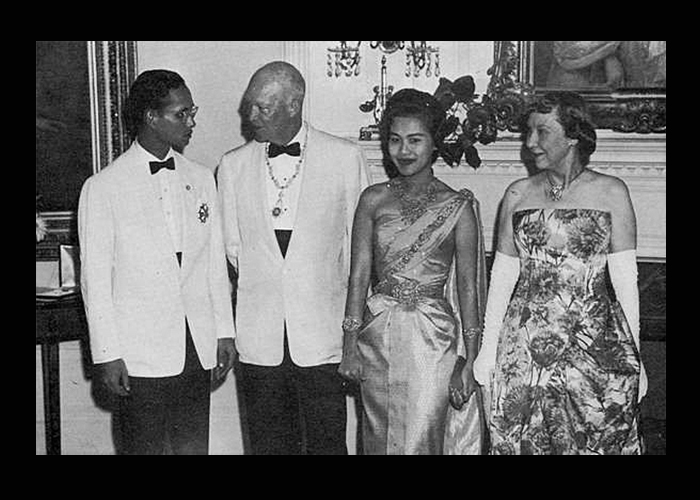 Queen Sirikit, The King and President Eisenhower