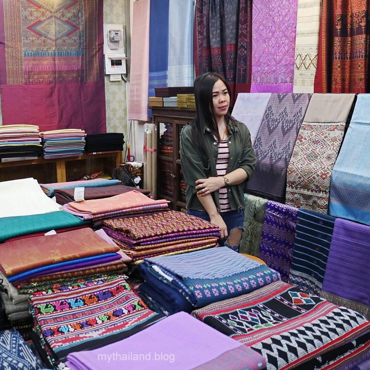 A Bangkok Fabric Shop and Owner