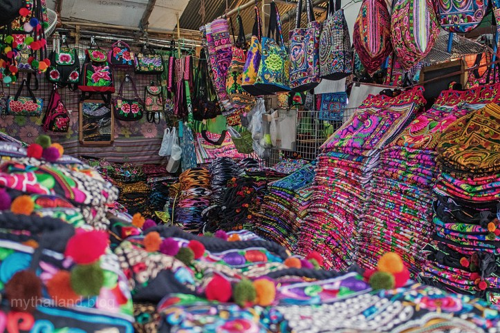 Hill Tribe purses and handbags at the Chiang Mai Fabric District